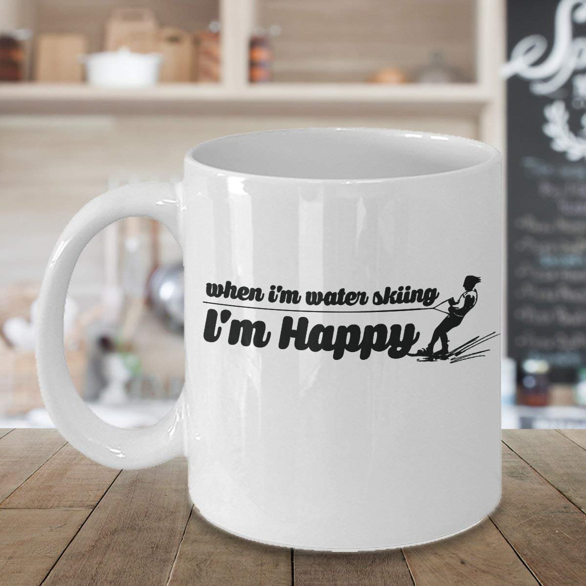 Warning May Start Talking About Water Skiing Funny Coffee Mug Gift Ideas 1562