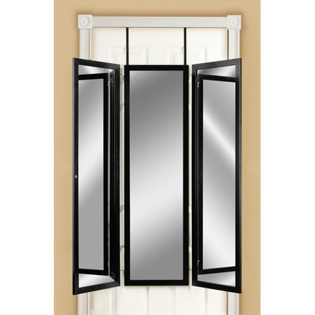 Mirrotek Triple View Professional Over The Door Dressing Mirror