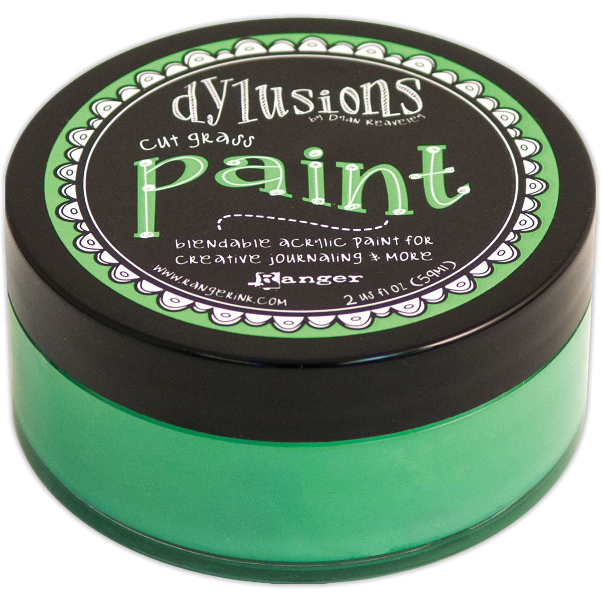 Dylusions By Dyan Reaveley Blendable Acrylic Paint 2oz-Cut Grass
