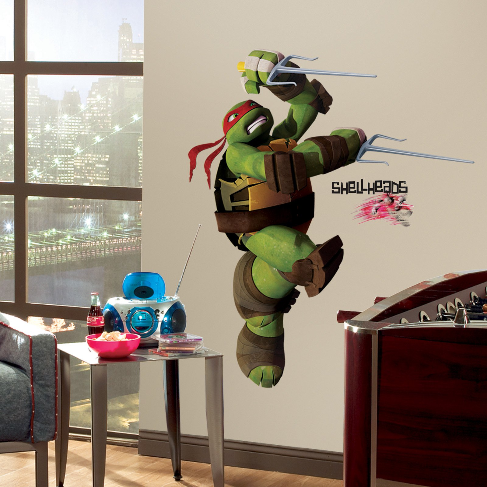 Teenage Mutant Ninja Turtles Ralph Peel and Stick Giant Wall Decals