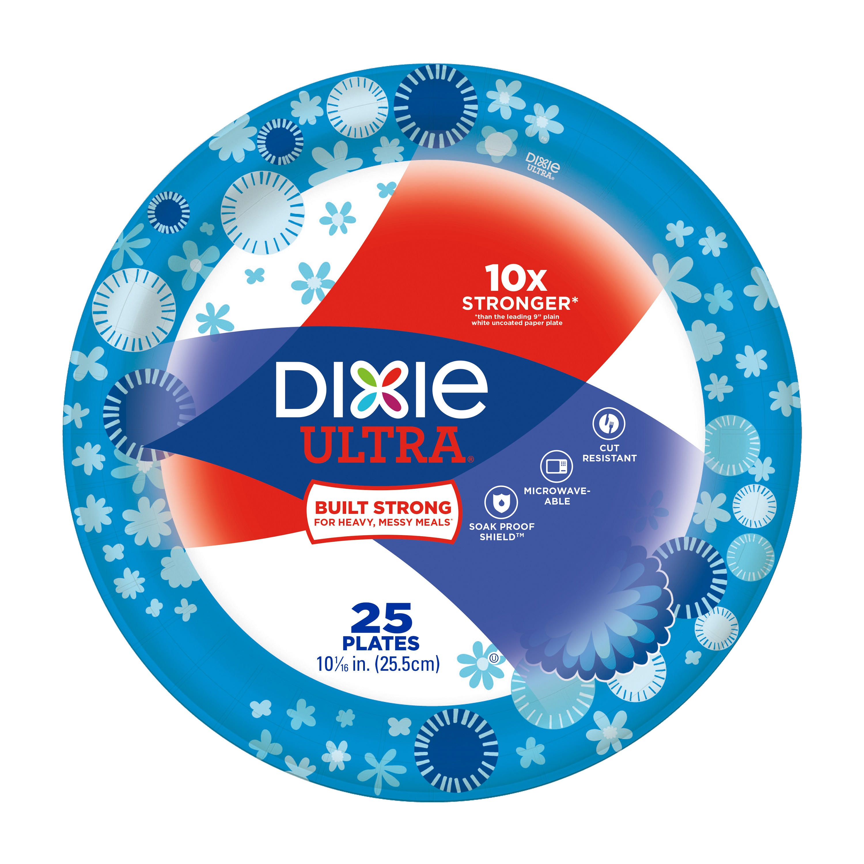 Dixie Ultra Plates, 25 count