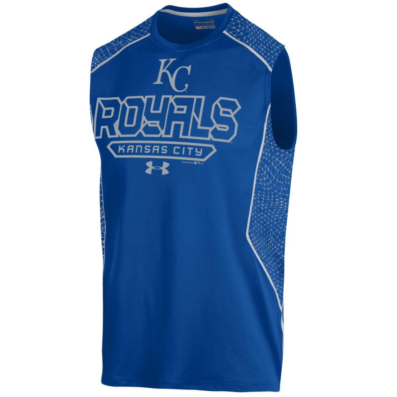 Kansas City Royals Under Armour Apex Print Sleeveless Performance T-Shirt - Royal