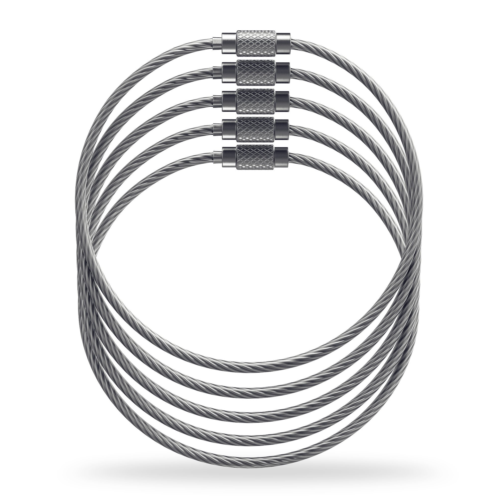 Shacke Luggage Tag Loops Stainless Steel Metal Wire