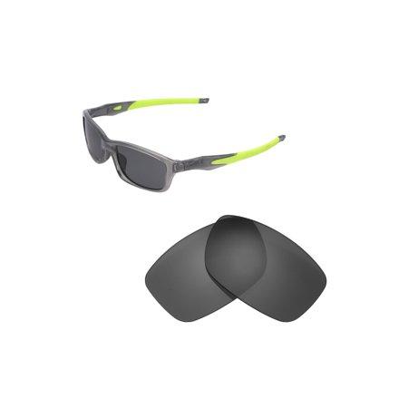 a81844b66c Walleva - Walleva Black Polarized Replacement Lenses for Oakley Crosslink  55 (OX8030 Series) Sunglasses - Walmart.com