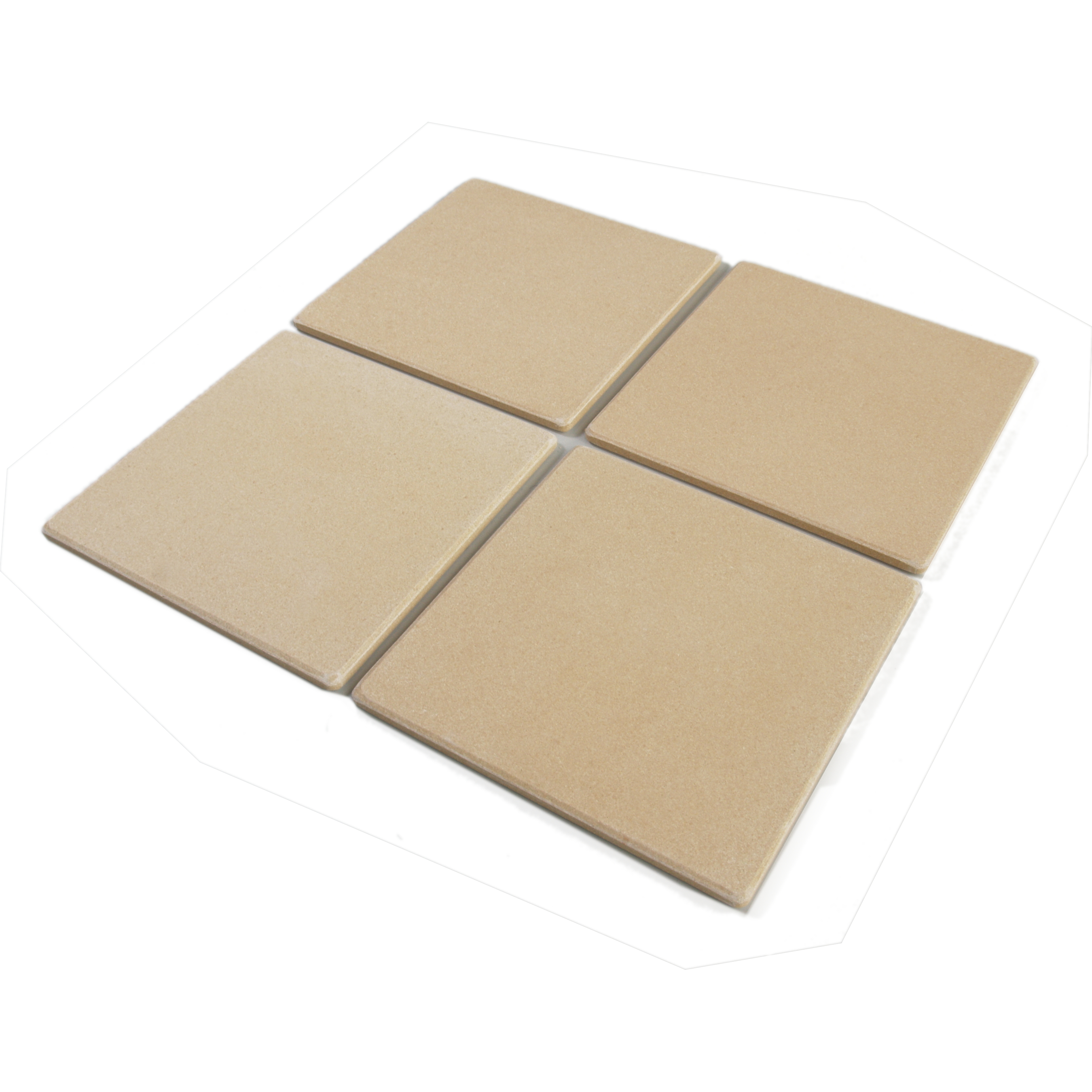 Bialetti Taste of Italy Ceramic Pizza Stone Tile, Set of 4 by Bialetti