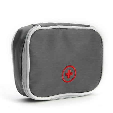 Mini Outdoor First Aid Kit Bag Travel Useful Portable Medicine Package Emergency Kit Bags Medical Storage Bag Small Organizer for Travel Business Trip Household Grey Style 2 ()