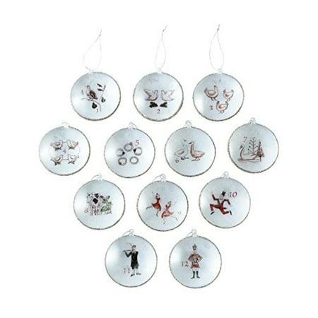 living quarters yuletide farms 12 days of christmas disc ornament set - 12 Days Of Christmas Ornament Set