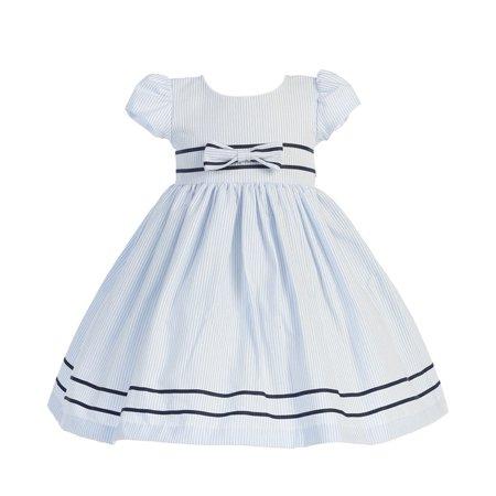 d16cc9d2b Sophias Style - Light Blue Stripe Short Sleeve Seersucker Easter ...