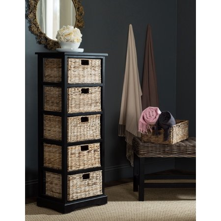 Vedette Country Nautical 5 Wicker Basket Storage Tower ()