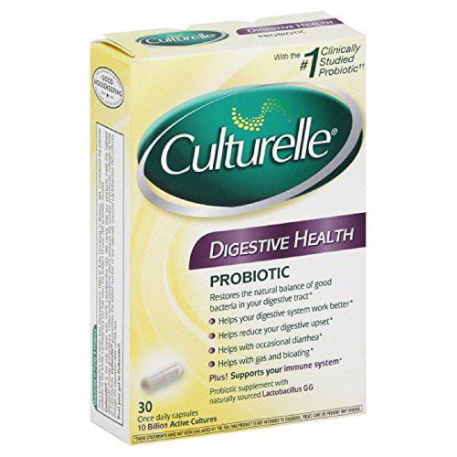 4 Pack - Culturelle Probiotic Digestive Health 30 Capsules Each