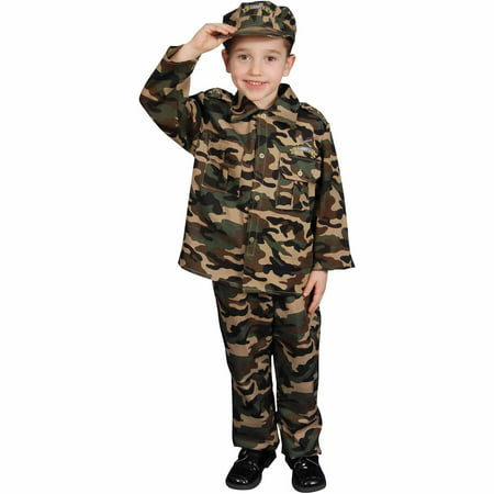 Army Child Halloween Costume](Diy Army Girl Costume)