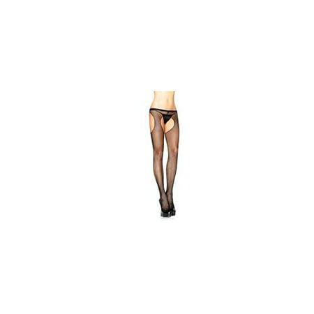 Leg Avenue Suspender Fishnet Pantyhose 1402LEG_BL Black One Size Fits All, One Size Fits All - Suspender Hose
