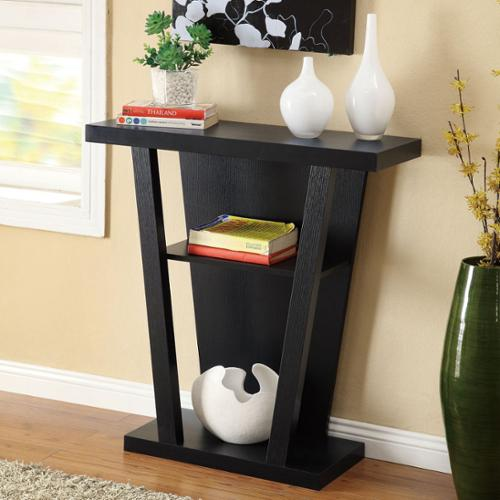 OH Black Finish Console Sofa Entry Table