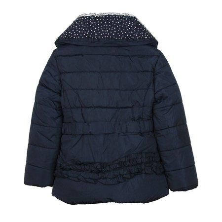 Le Chic Girl's Puffer Jacket with Shawl Collar Navy, Sizes 3-14 - 5/110 - image 1 of 2