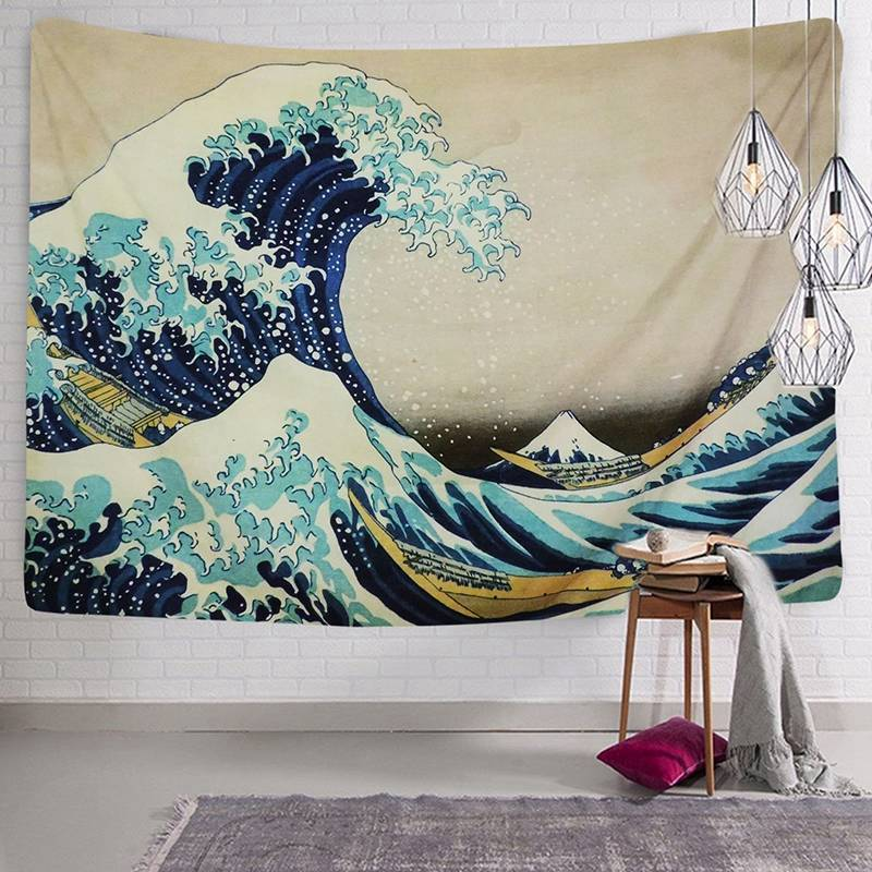Dog Painting Tapestry Art Wall Hanging Sofa Table Bed Cover Home Decor