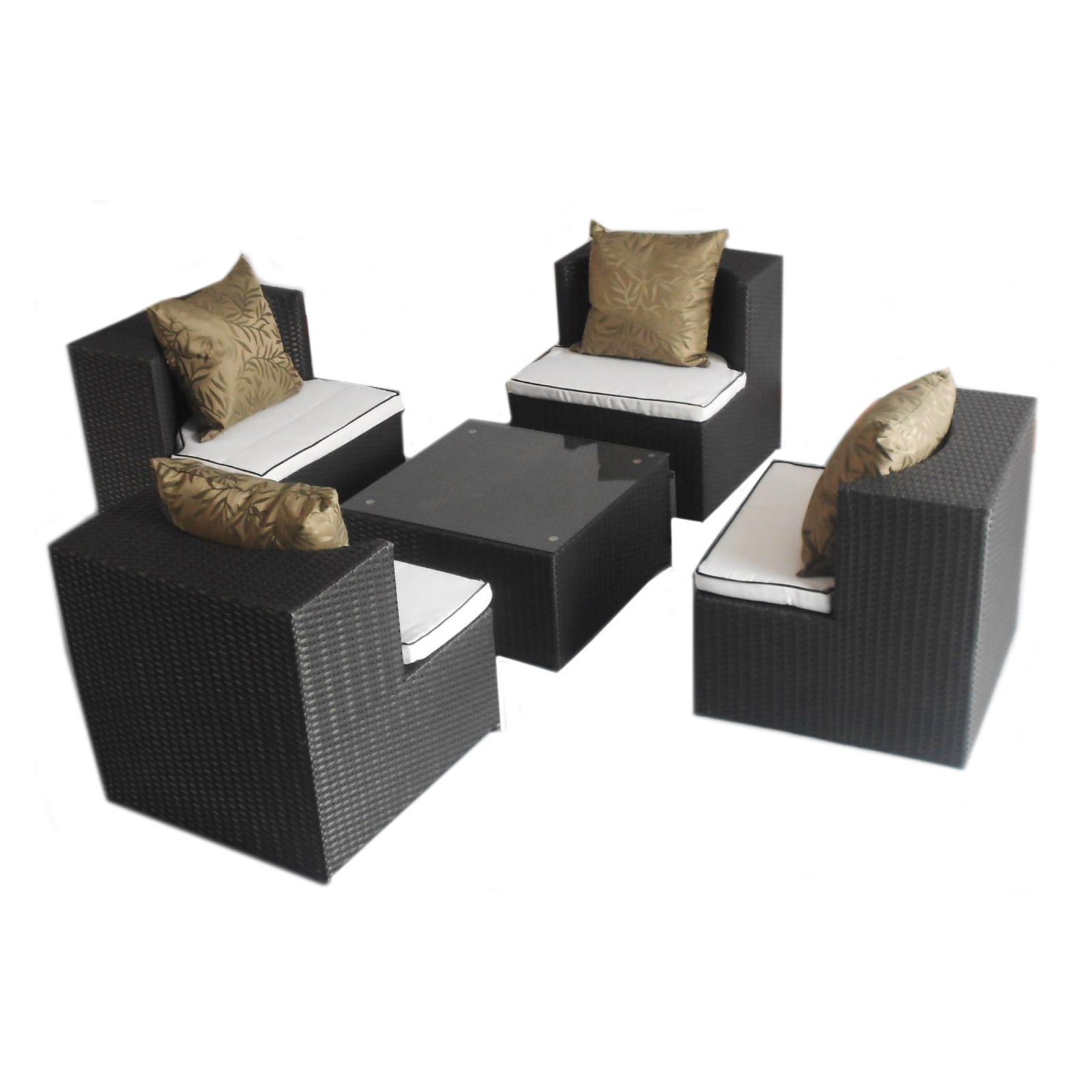 Art-Deck-Oh! Geo-Cube All Weather Wicker Chat Set