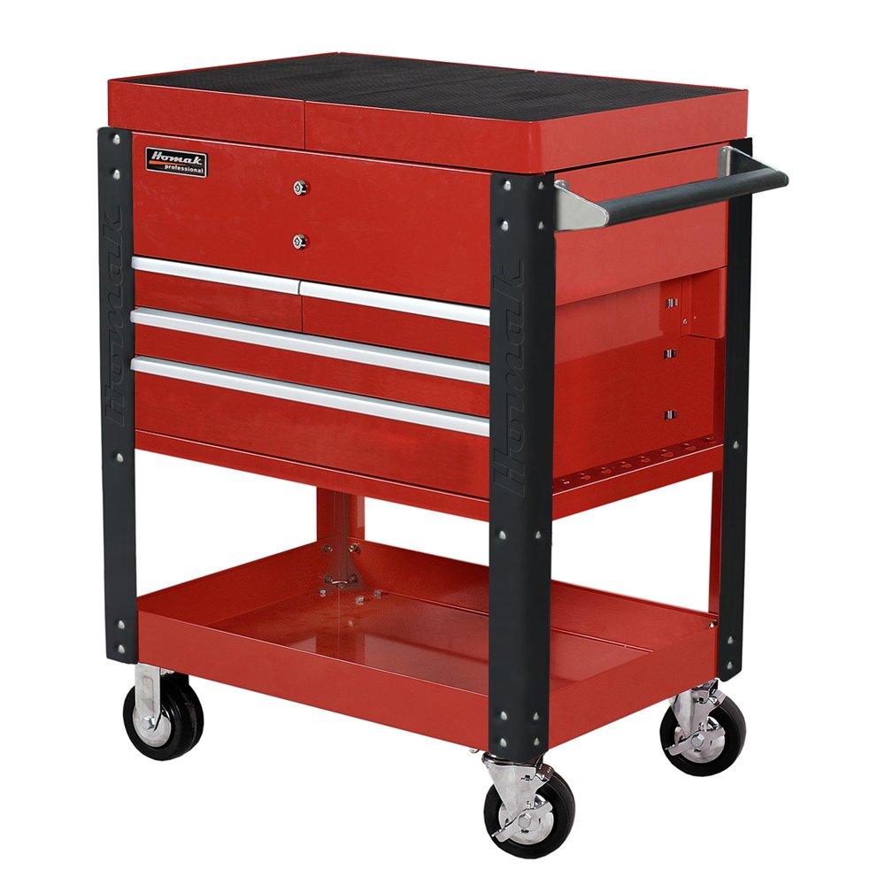 Homak 06043500 Pro Series Slide-Top Service Cart