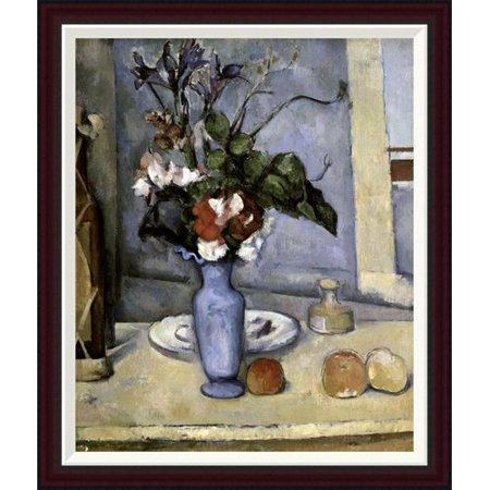Global Gallery Blue Vase By Paul Cezanne Framed Painting Print