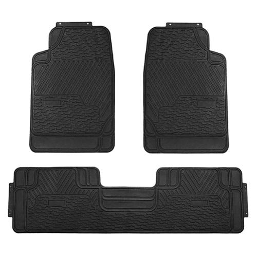 FH Group Black All weather Rubber Full Set Car Floor Mats