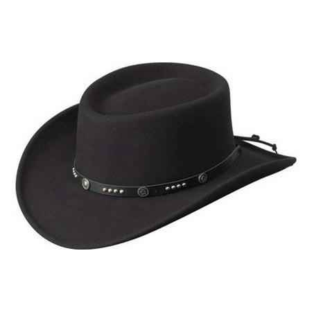 Bailey Cowboy Hat Mens Telescope Felt Wool Concho Details Joker W07LFZ - Joker Hat