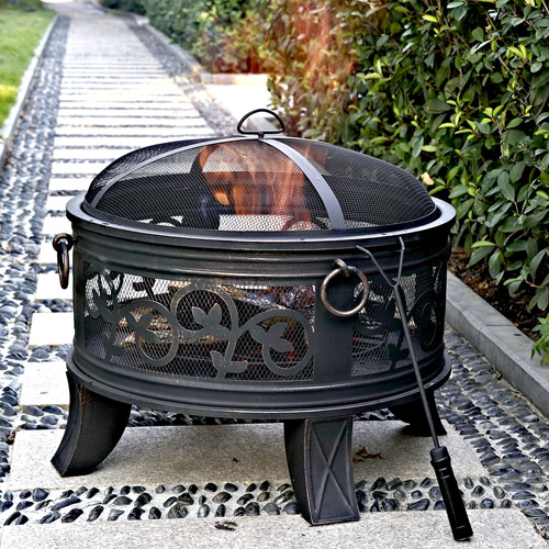 "Granada 26"" Steel Fire Pit, Antique Bronze"