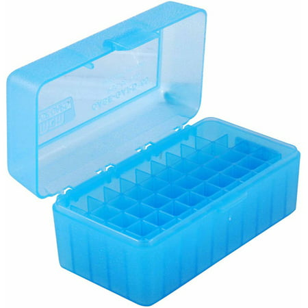 MTM RS Flip Top, 50-Round Ammo Case, Blue