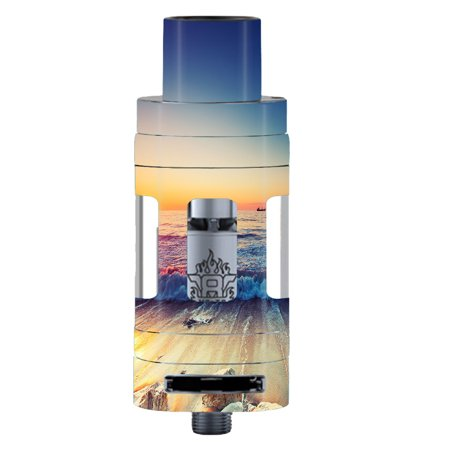 Skins Decals For Smok Tfv8 Tank Vape Mod / Beach Tide Water Rocks