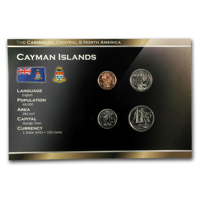 Cayman Islands 1-25 Cents Coin Set BU