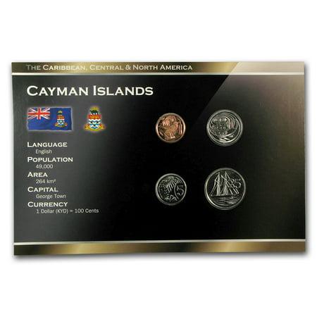 Cayman Islands 1-25 Cents Coin Set BU (Rhode Island Mint Coin Set)