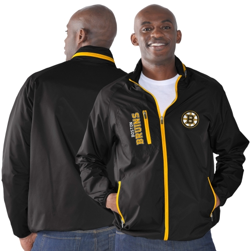 Boston Bruins G-III Sports by Carl Banks Game Plan Full-Zip Jacket Black by G-III LEATHER FASHIONS INC