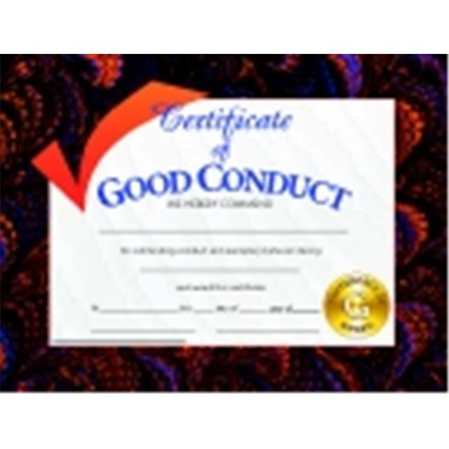 Hayes 8.5 x 11 in. Good Conduct Certificate, Pack 30