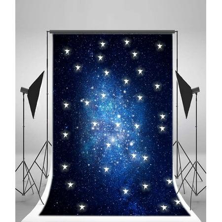 GreenDecor Polyster 5x7ft Photography Backdrops Night Starry Sky Child Photo Backgrounds Studio Props