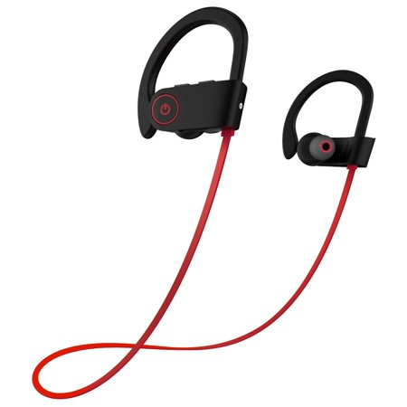 Bluetooth Headphones, Coolmade Best Wireless Sports Earphones w/Mic IPX7 Waterproof HD Stereo Sweatproof In Ear Earbuds for Gym Running Workout 8 Hour Battery Noise Cancelling