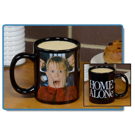 Alone Mug (Home Alone Black Decal 11 oz Mug Kevin McCallister Wet Bandits )