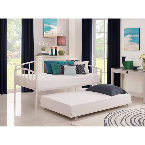 Ava Metal Daybed and Trundle, White