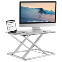 Mount-It! Height Adjustable Standing Desk Monitor Riser, 31 Inch Tabletop Converter
