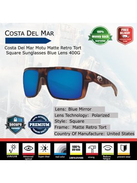 e5138ebaa13ac Product Image Costa Del Mar Motu Matte Retro Tort Square Sunglasses
