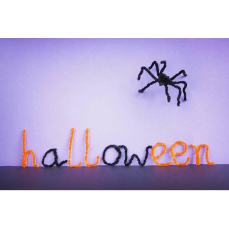 Halloween Toy Spider, Pipe Cleaners. Print Wall Art By EwaPix