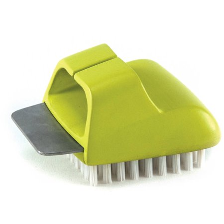 The Charcoal Companion Salt Block Cleaning Brush, Green,