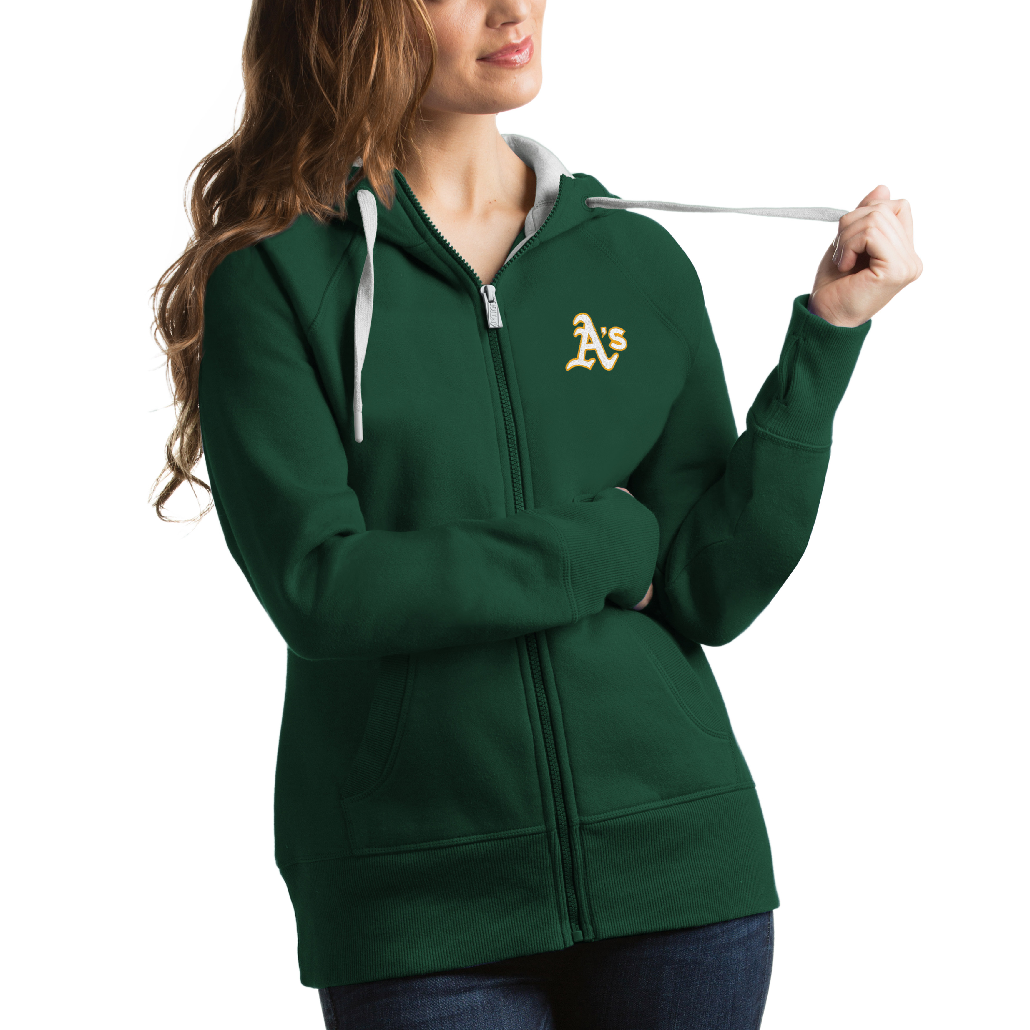 Oakland Athletics Antigua Women's Victory Full-Zip Hoodie - Green