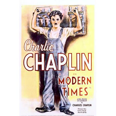 Charles Chaplin Modern Times 24x36 Poster