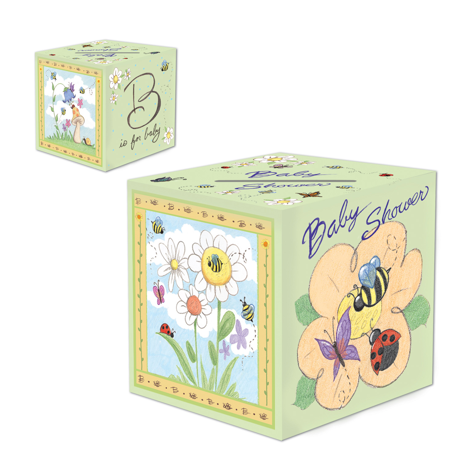 B Is For Baby Card Box (Pack of 6) - image 1 de 1