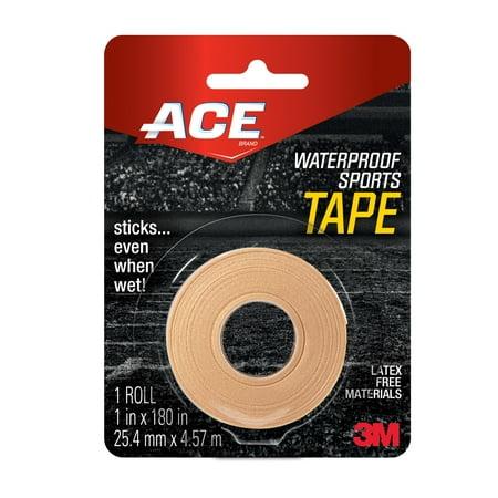 ACE Waterproof Sports Tape, Beige, 1 in. x 180 in. ()