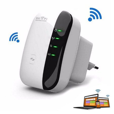 WiFi Range Extender 300Mbps Wireless Repeater Internet Signal Booster 2.4GHz Amplifier for High Speed Long Range (EU (Best Internet Speed Booster App For Android)
