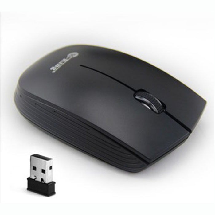 2.4GHz Mini High Speed 1500D Wireless Optical Mouse For PC Laptop Black