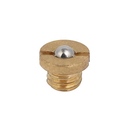 M5x3.5mm Thread 5.6N End Force Brass Slotted Flange Ball Style Spring Plunger - image 1 de 4