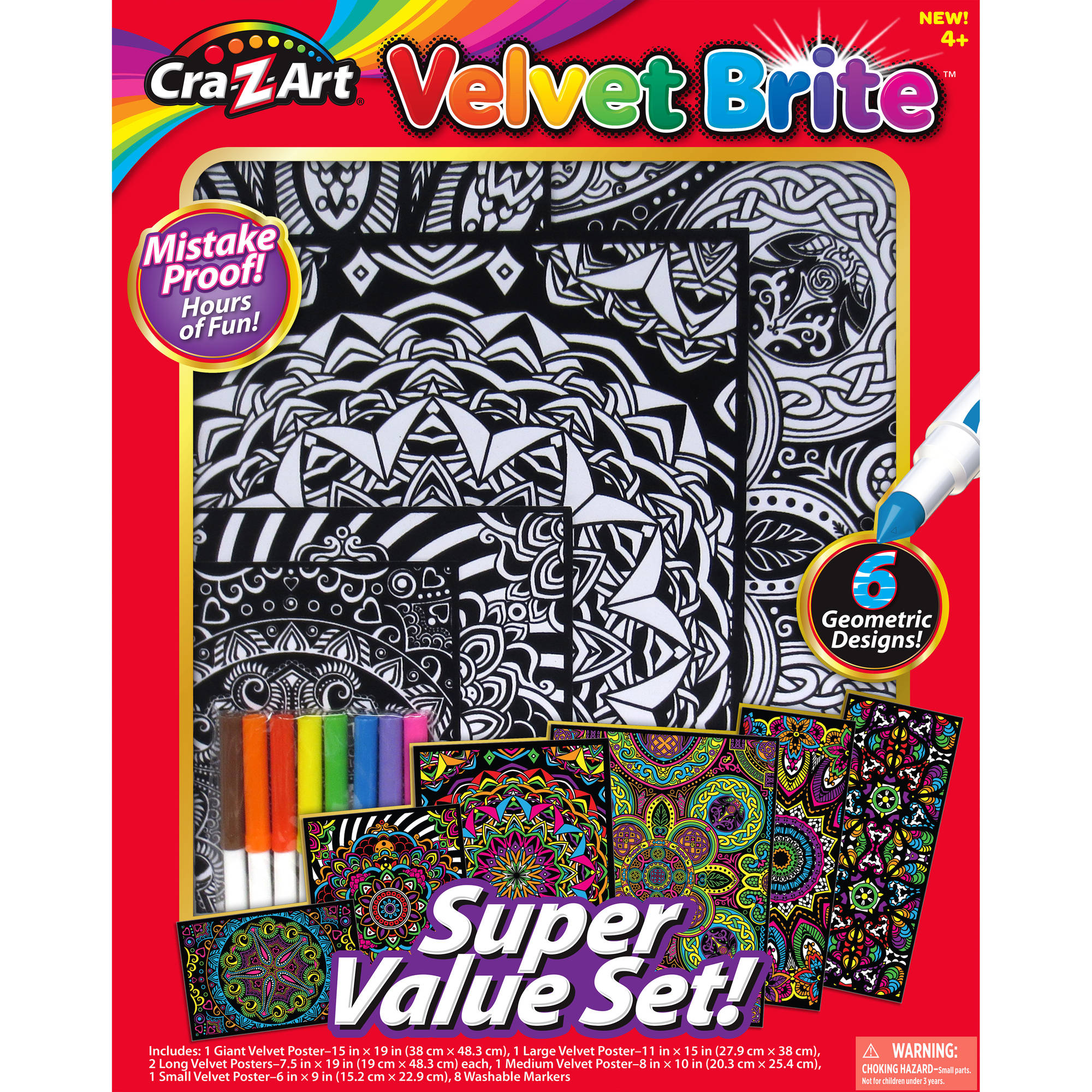 Cra-Z-Art VELVET BRITE SUPER VALUE SET - Walmart.com