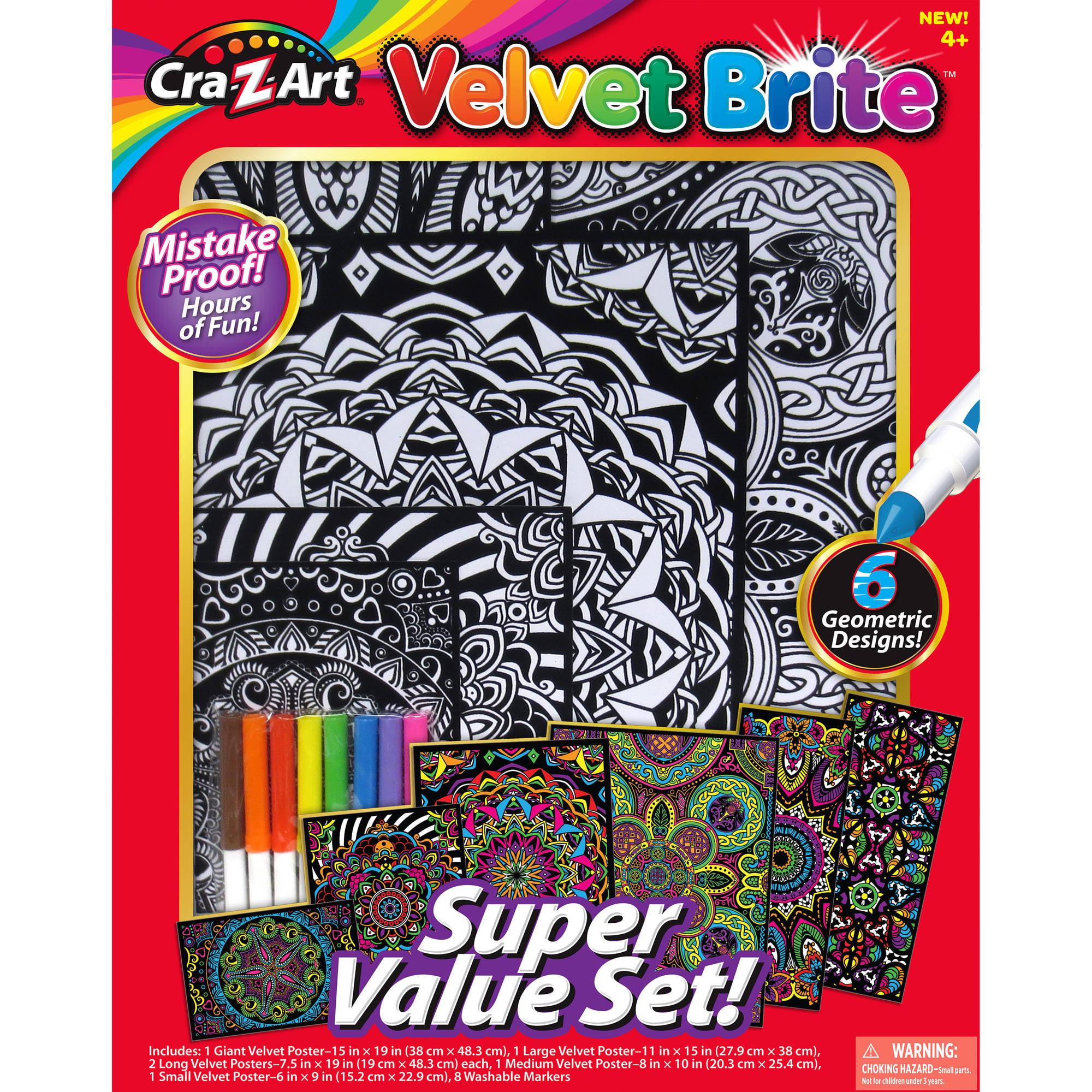Cra-Z-Art VELVET BRITE SUPER VALUE SET by LaRose Industries, LLC
