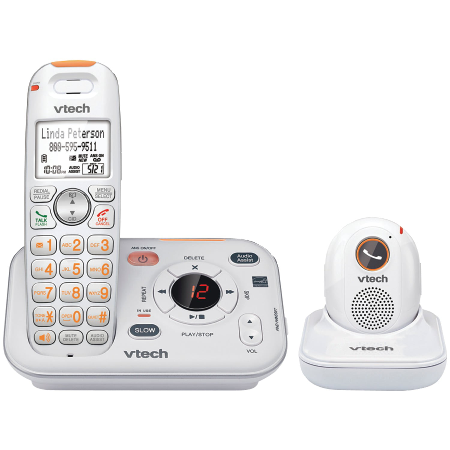 Vtech Sn6187 Careline Cordless Answering System With Portable
