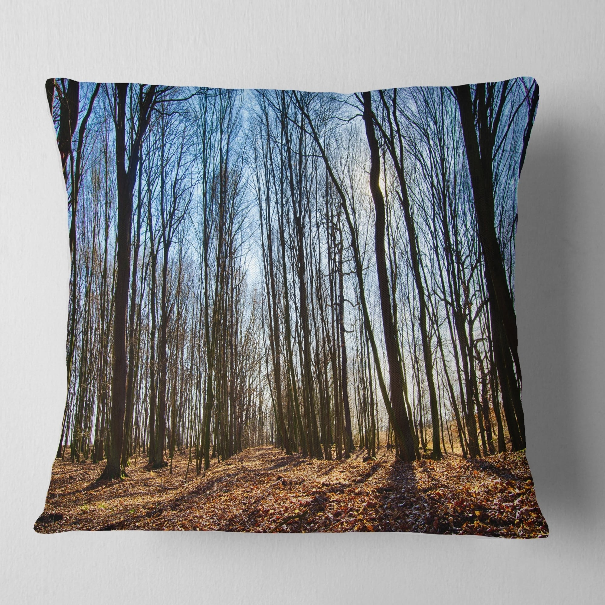 in x 20 in Sofa Throw Pillow 12 in Designart CU13998-12-20 Dark Trees Sunrise Forest Lumbar Cushion Cover for Living Room